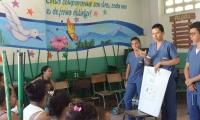 Campaña de concientización de la Unimag, en el barrio Las Malvinas
