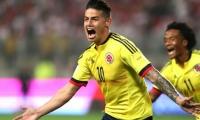 James celebrando el gol ante Perú.