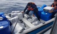 Mercancía incautada en aguas de Cartagena