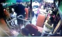 En el video de una cámara de seguridad de un bus de Sobusa atracado en el corregimiento de La Playa.