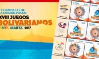 Así serán las estampillas de los Juegos Bolivarianos de Santa Marta 2017.