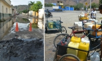 Alcantarrillas rebosadas y falta de agua potable: dos problemas que no acaban en Santa Marta.