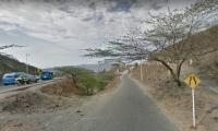 Bajada por el sector de Pastrana, Santa Marta.