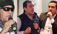 Jesús Santrich y los Representantes, Santiago Valencia y Edward Rodríguez.