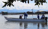 La embarcación fue llevada a la zona para para la verificación y realización pruebas técnicas.