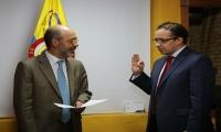 Toma de juramento del nuevo Viceministro de Agua.