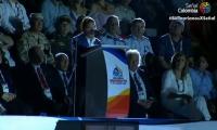 Rafael Martínez, durante su discurso en la inauguración de los Juegos Bolivarianos.