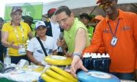 Alcalde durante el lanzamiento de la campaña.