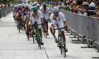 Imágenes de la prueba del ciclismo.