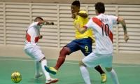 Colombia venciendo por goleada 5 goles a 0 a la selección de Panamá.