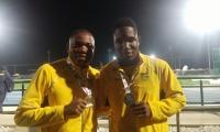 Jhon Murillo y Divie Murillo, hermanos que compiten en el salto triple del atletismo.