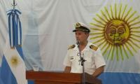 El portavoz de la Armada argentina, Enrique Balbi