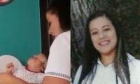Mujer que presuntamente maltrata a menores en jardín infantil de Bucaramanga.