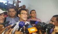 Carlos Caicedo, tras ser dejado en libertad.