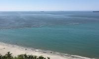 La mancha que se observa en la playa de Bello Horizonte.
