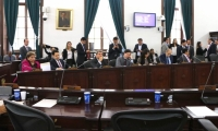 Sesión de la Comisión Primera del Senado de la República.