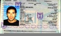 Pasaporte del israelí Assi Moosh.