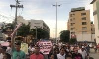 Marcha de apoyo a Carlos Caicedo y Rafael Martínez.