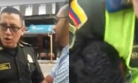 Agresión de policías a ciudadano.