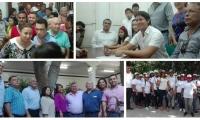 Hasta la sede la Registraduría de Santa Marta llegaron los candidatos para hacer su inscripción.