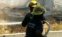6 bomberos acudieron a sofocar las llamas.