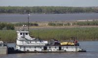 Este es el remolcador que encalló en aguas del río Magdalena, en El Banco.