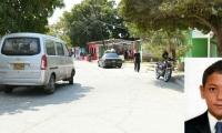 En este sitio fue asesinado por un policía el menor Juan Carlos Torregrosa Acosta, en el recuadro.