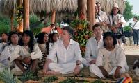 Juan Manuel Santos se ha reunido con los indígenas de la Sierra Nevada en varias ocasiones.