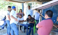 Aspecto de la diligencia de restablecimiento del espacio público en Ciénaga