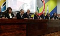 Rueda de prensa efectuada en la sede del Comité Olímpico Venezolano.