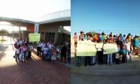 Los niños siguen esperando que el Megacolegio Juan Manuel Santos, abra sus puertas.