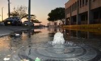 Desbordamiento de aguas negras en el Centro de Santa Marta.