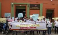 La contraloría departamental también protestó por la propuesta del contralor general, Edgardo Maya Villazón,