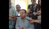 Rafael Martínez, en la conferencia de prensa sobre el operador Proactiva.