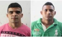 Óscar Alfonso Bastidas y Dairo David Orozco Llanes, capturados por porte ilegal de armas.
