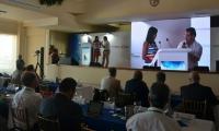 La viceministra de turismo, Sandra Howard, y el alcalde Rafael Martínez, compartieron escenario en el foro.