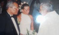 Roque Morelli, el día de su matrimonio con Yolima Ruiz.