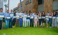 Entrega de credenciales a los representantes de la Universidad del Magdalena.