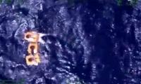 Los tripulantes fueron encontrados en alta mar.