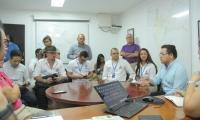 El alcalde Rafael Martínez presidió la sesión de trabajo en la sala de monitoreo por la temporada de Semana Santa