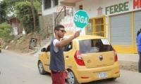 La vía a Minca ha tenido diversos controles para evitar el represamiento de vehículos