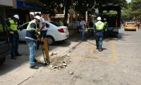 Procedimiento de recuperación de espacio público en El Rodadero.