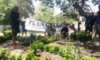 Los árboles fueron sembrados con el apoyo de ONG que orientaron la actividad.