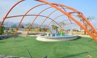 Así se ve el parque del Agua, tras visita de la Alcaldía realizada este martes.