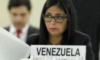 Delcy Rodríguez, canciller venezolana.