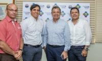 El experto se reunió con directivos de la Universidad del Magdalena.