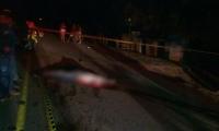 El hombre murió de manera inmediata en el lugar del accidente.