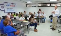 Aspecto del comité de convivencia liderado por el secretario de Educación, William Renán.