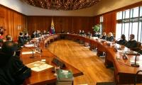 Sala de la Corte Constitucional de Colombia.