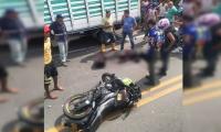 El accidente ocurrió en el km 13 de la vía Barranquilla-Santa Marta.